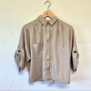 Forever 21 Sheer Button Up NWOT